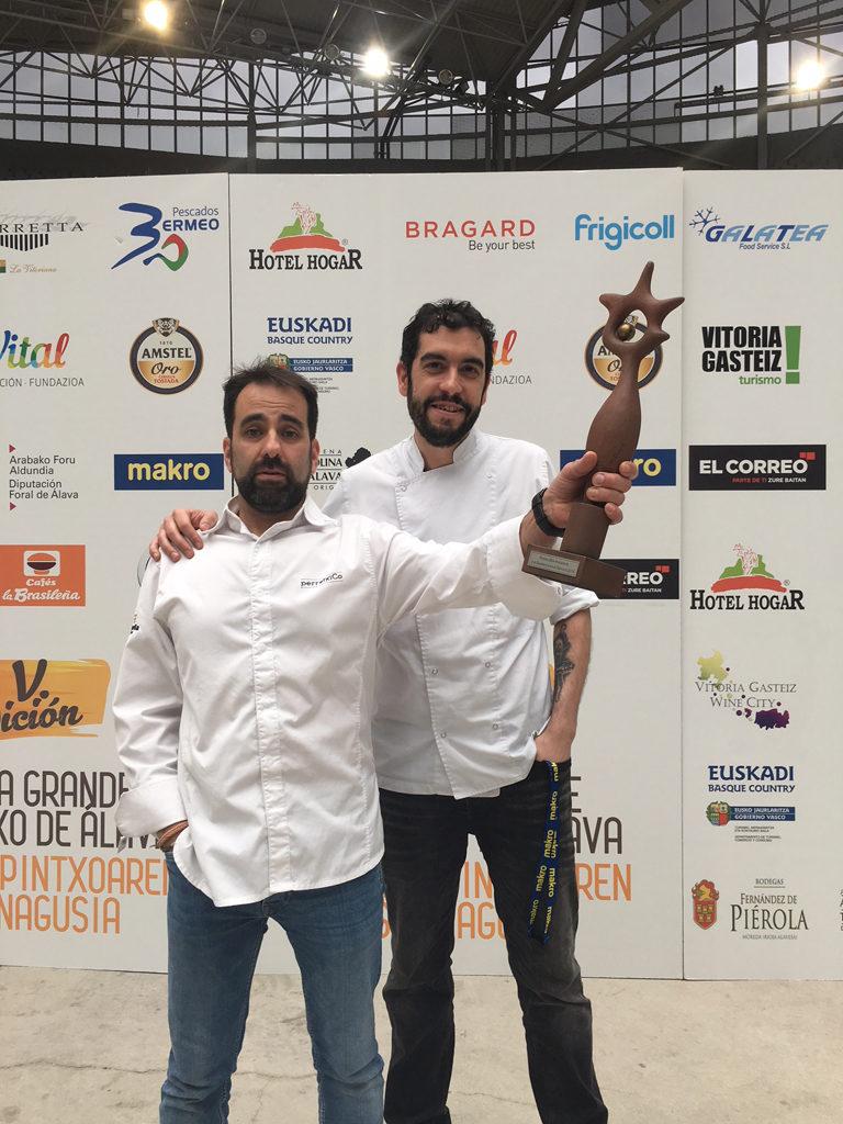 perretxiCo premio a la excelencia en el servicio en la Semana Grande del Pintxo de Alava 2018