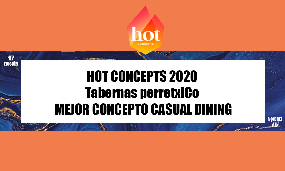 perretxico premio hot concept 2020 casual dining